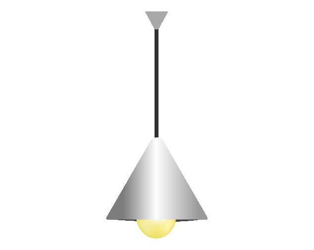 シンプルなペンダントライトのイラスト