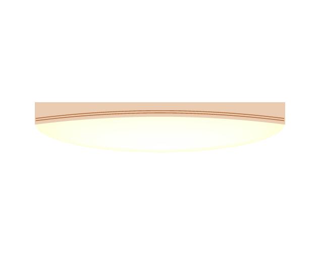 シーリングライト(横)のイラスト