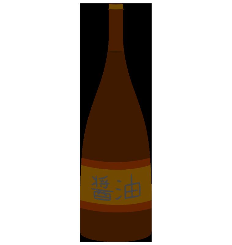 一升瓶に入った醤油のイラスト
