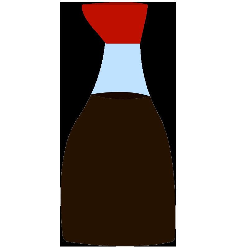 醤油差しに入った醤油のイラスト