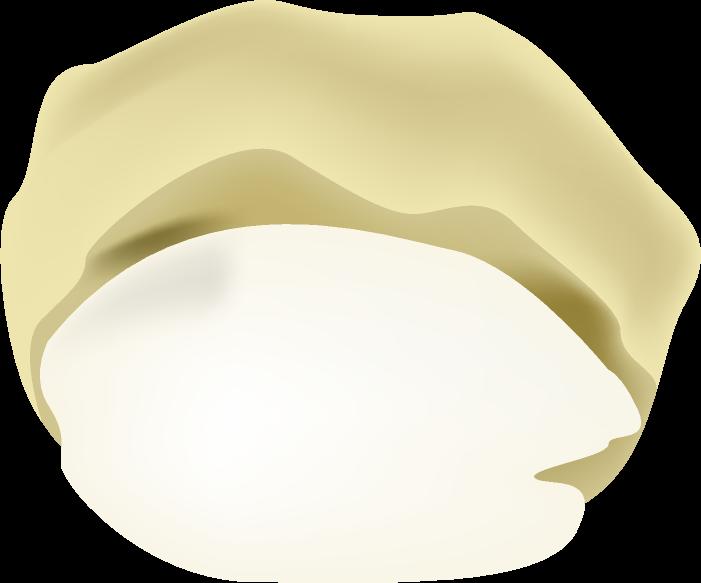クリームがトロッとしたシュークリームのイラスト