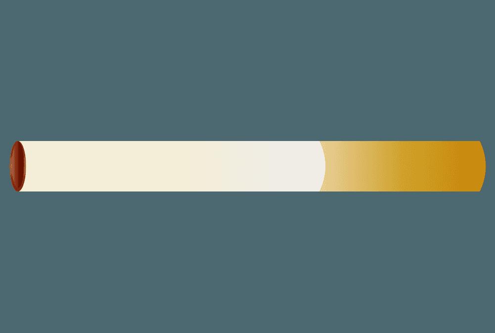一本のタバコのイラスト