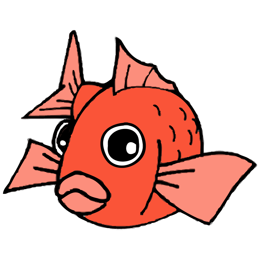 正面を向く鯛イラスト