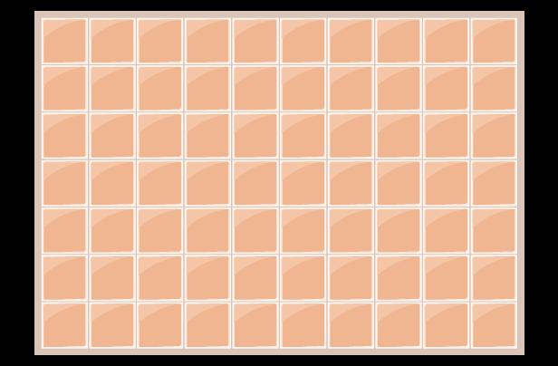 オレンジのタイル背景イラスト
