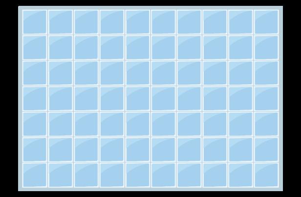 青いタイルの背景イラスト