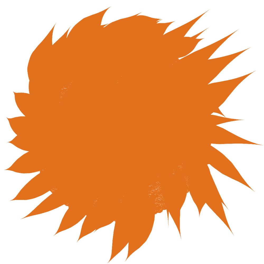 絵の具風太陽イラスト