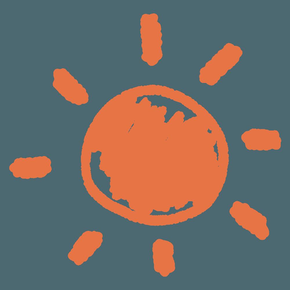 絵日記の太陽イラスト