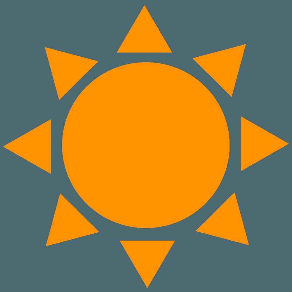 ベクター太陽マーク