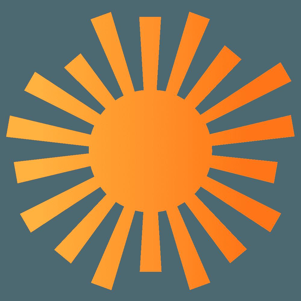 ライオンっぽい太陽イラスト