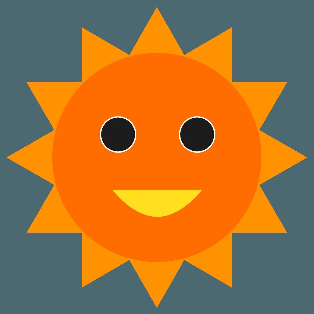 太陽の可愛いキャラクターイラスト