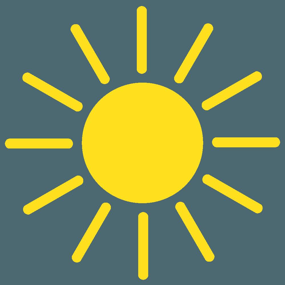 光る太陽イラスト