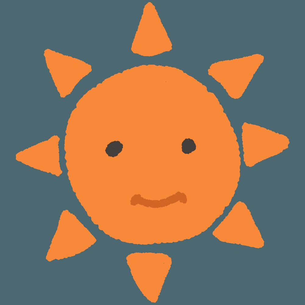 手書き太陽イラスト