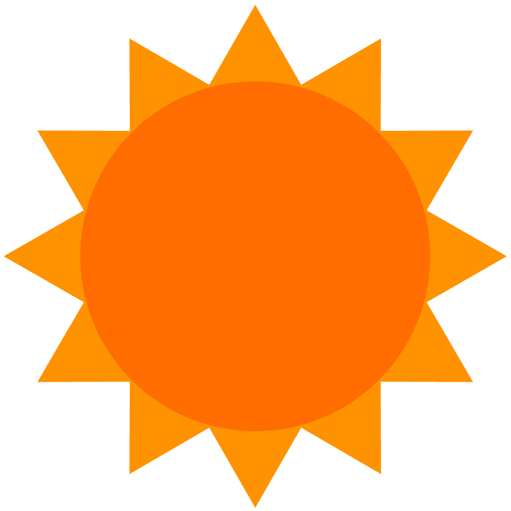繊細な太陽イラスト