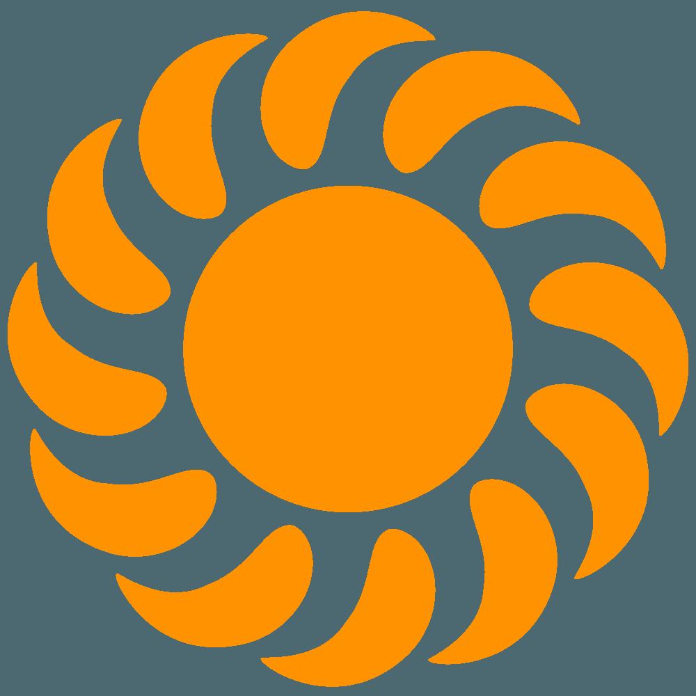 旋回する太陽イラスト