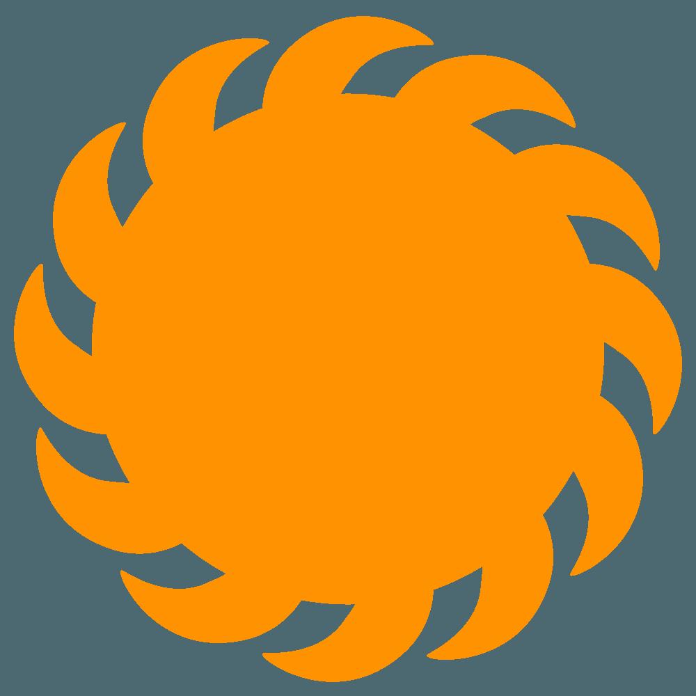 鉤爪太陽イラスト