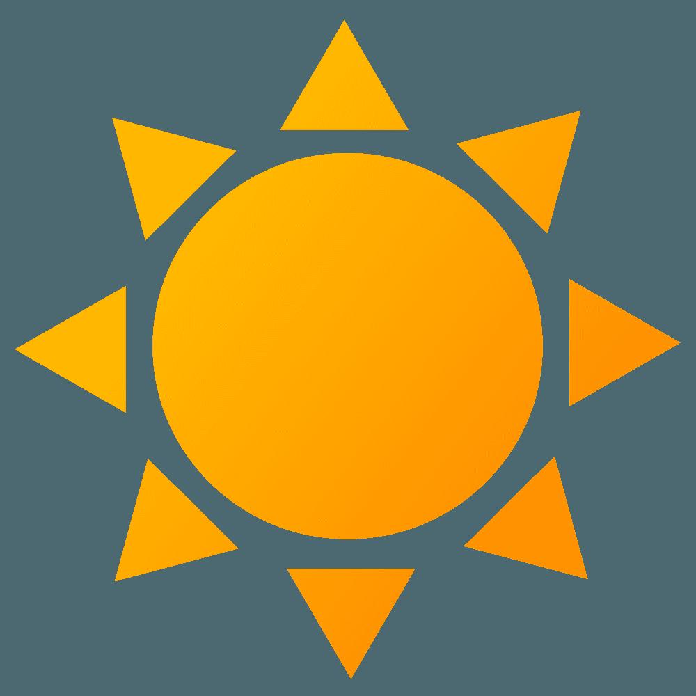 可愛い定番の太陽イラスト