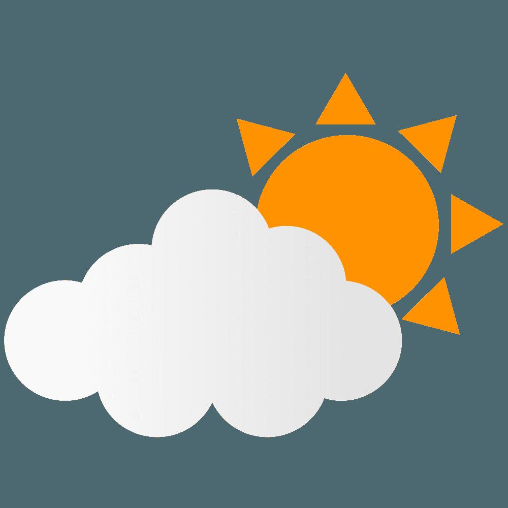 日照カラーっぽい太陽イラスト