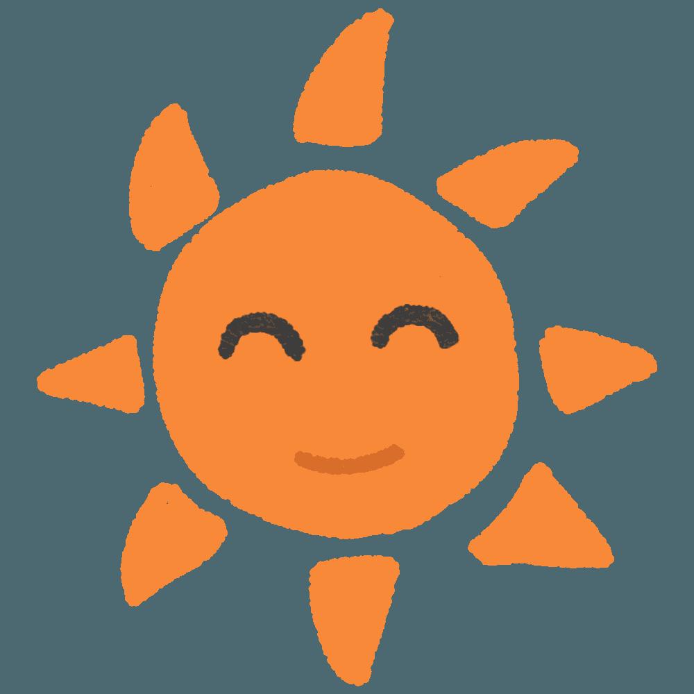 笑顔の太陽イラスト