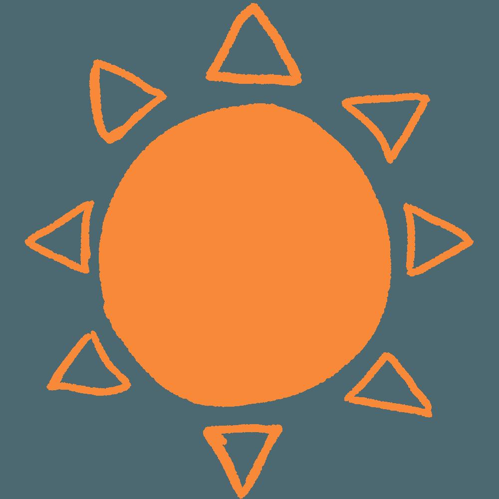ラフな太陽イラスト