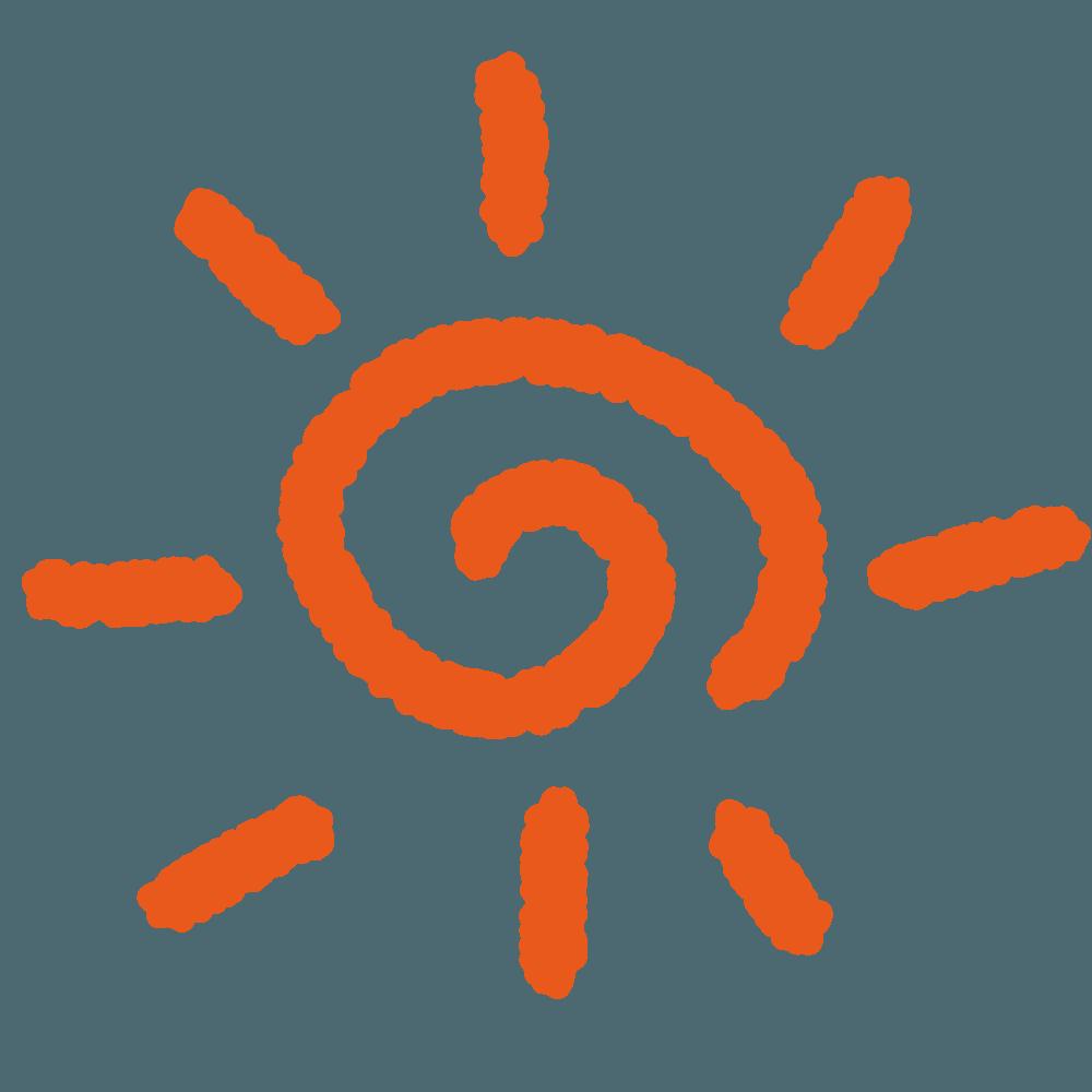 落書きの太陽イラスト
