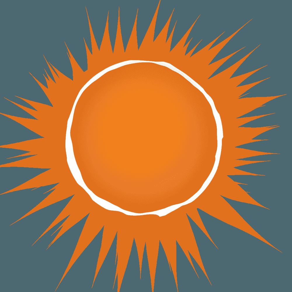 版画風太陽イラスト
