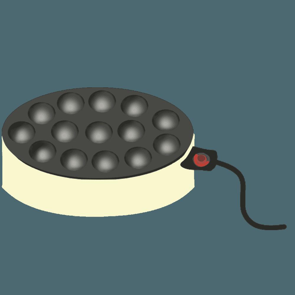 家庭用のたこ焼き機イラスト