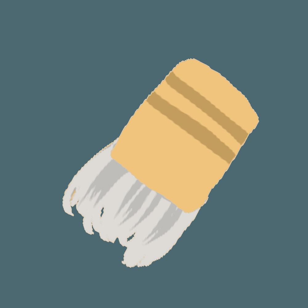 たこ焼き器に油を塗る調理道具イラスト