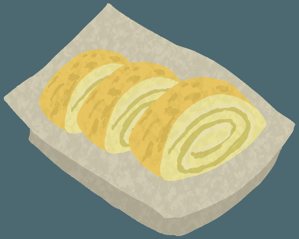 玉子焼きのイラスト