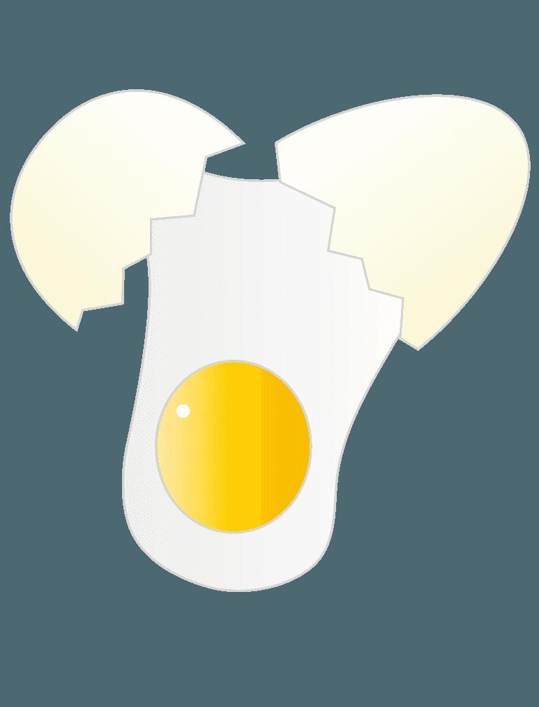 割れた卵のイラスト