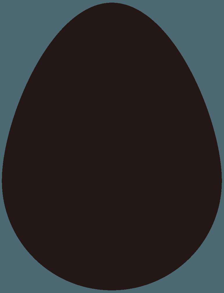 卵のシルエットイラスト