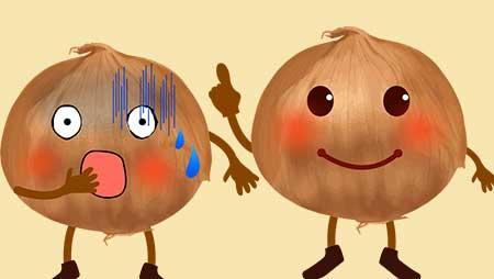 玉ねぎのキャラクターイラスト