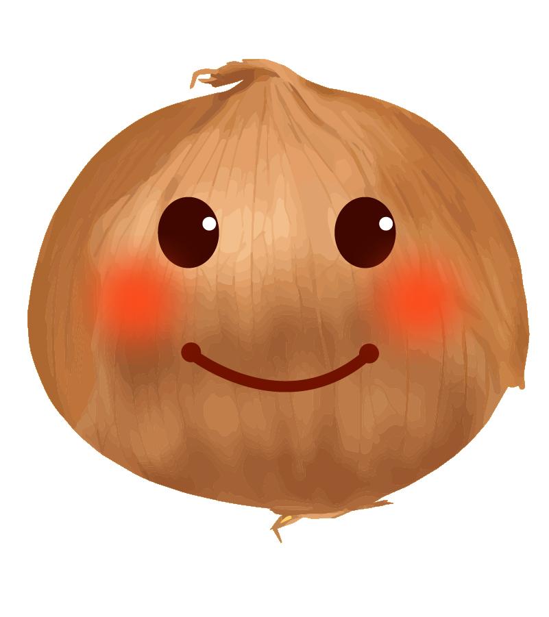 可愛い玉ねぎの顔のイラスト