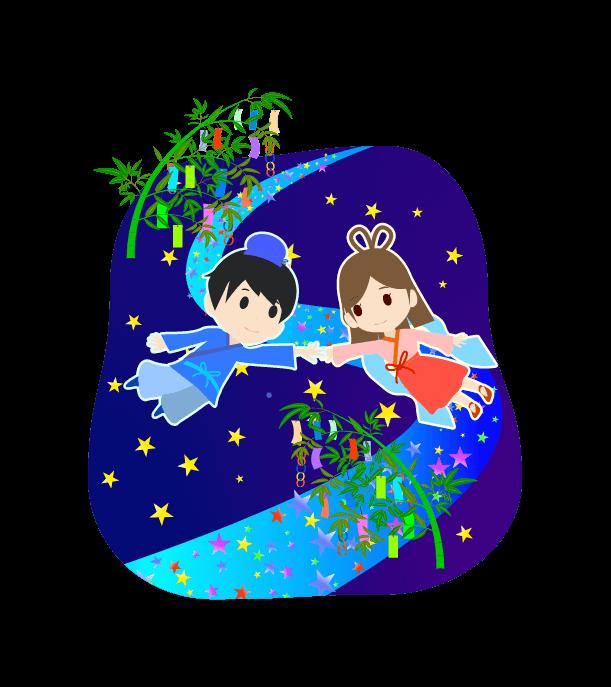 七夕の挿絵イラスト3