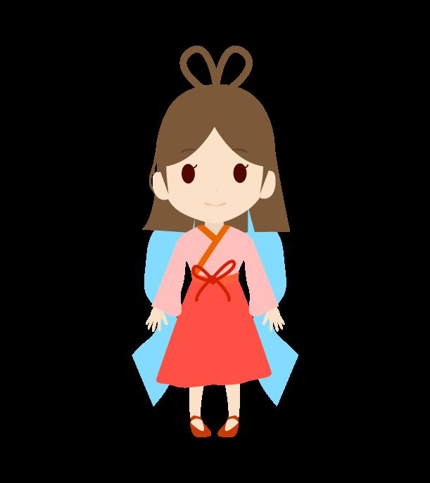 かわいい織姫のイラスト