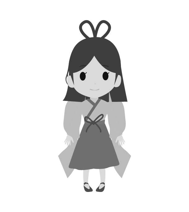 七夕のイラスト(白黒)2
