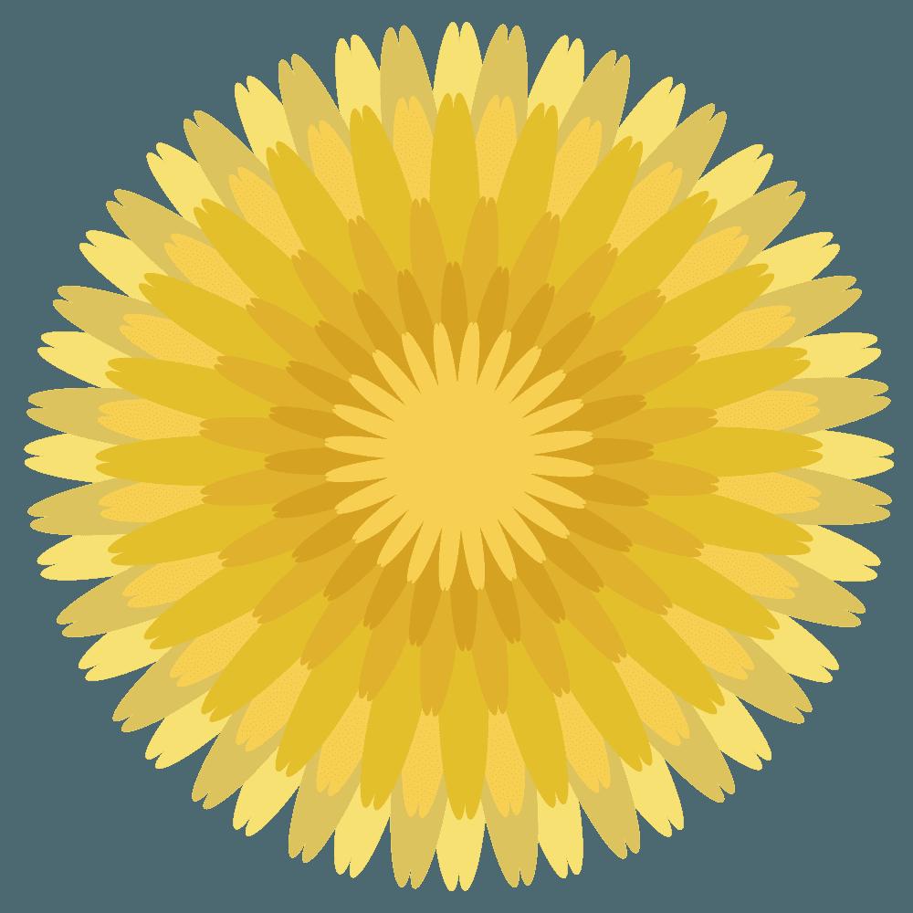 ベクターたんぽぽの花部分イラスト
