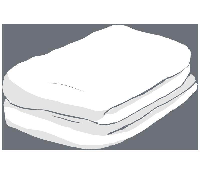 白いタオルのイラスト