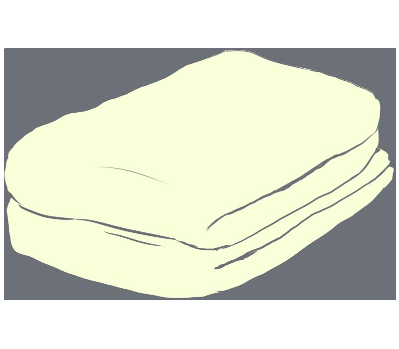 黄色いタオルのイラスト