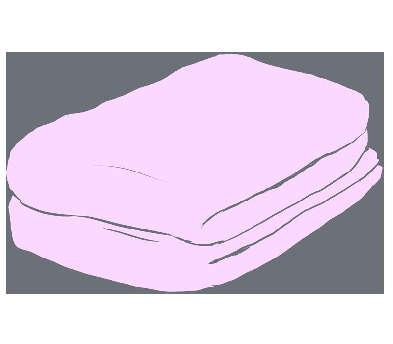 ピンクのタオルのイラスト