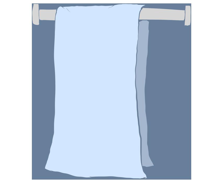 手拭き用のタオルのイラスト