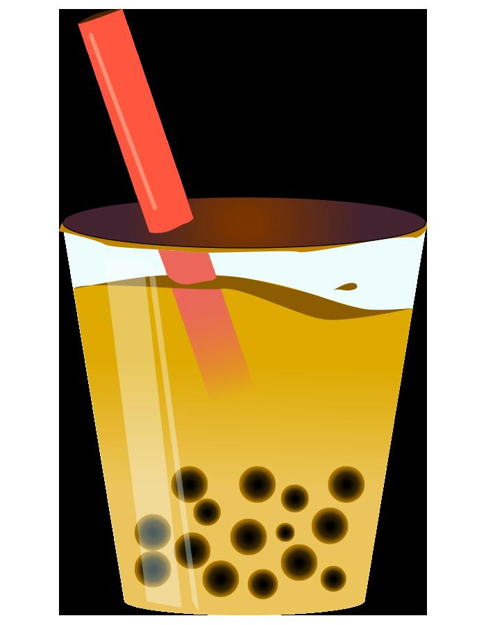 タピオカコーヒーのイラスト