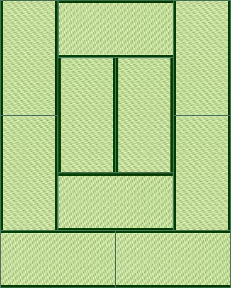 畳10帖のイラスト