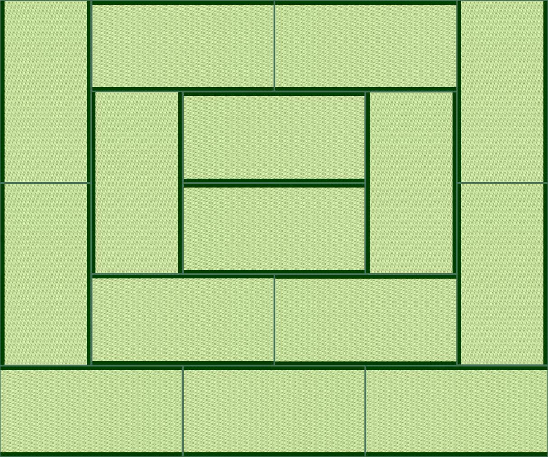 畳15帖のイラスト