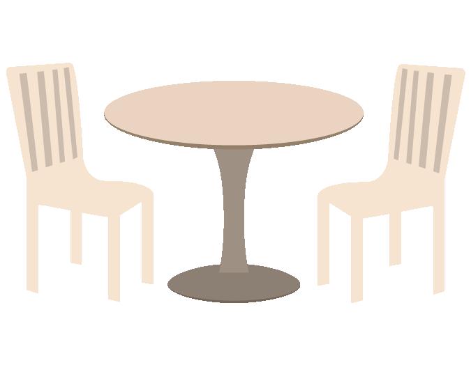 カフェのテーブルのイラスト