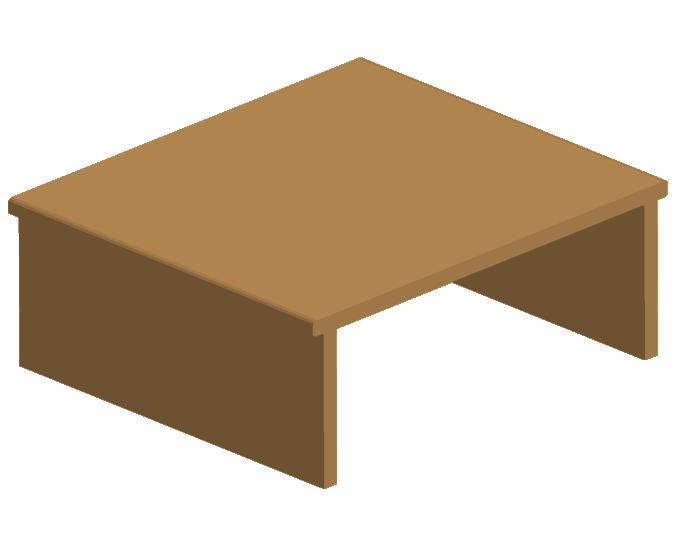 立体的なテーブルのイラスト