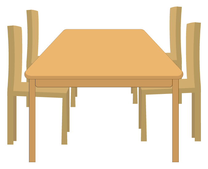 椅子と食卓テーブルのイラスト