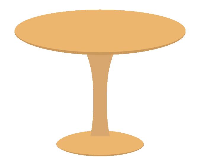 丸いテーブルのイラスト