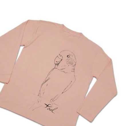 セキセイインコの手描きのTシャツ