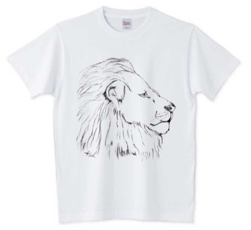 手書きのライオンTシャツ