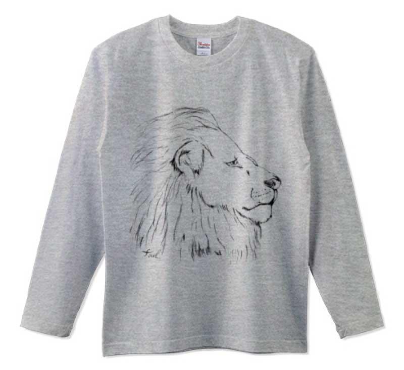 手書きのライオン<br>長袖Tシャツ